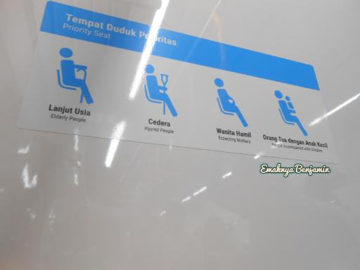 Informasi Tempat duduk prioritas dalam MRT