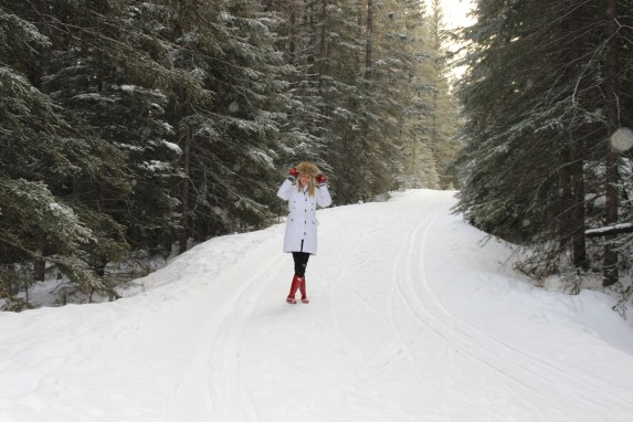 Christmas in Banff, Alberta | Harper's Hats Love