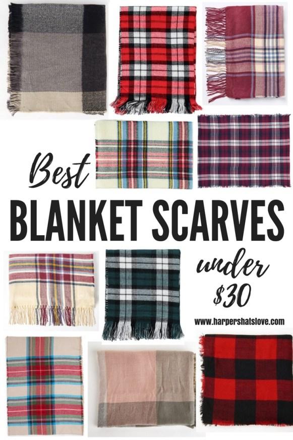 plaid scarf under $30