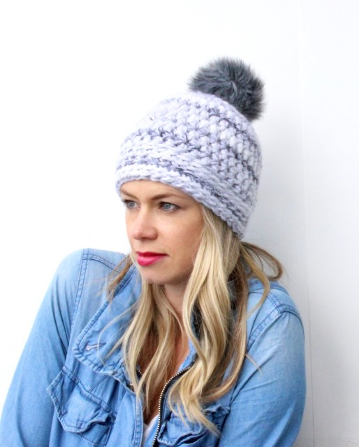 The chunky knit hat for fall.