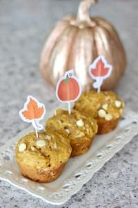 Pumpkin Coconut White Chocolate Muffins