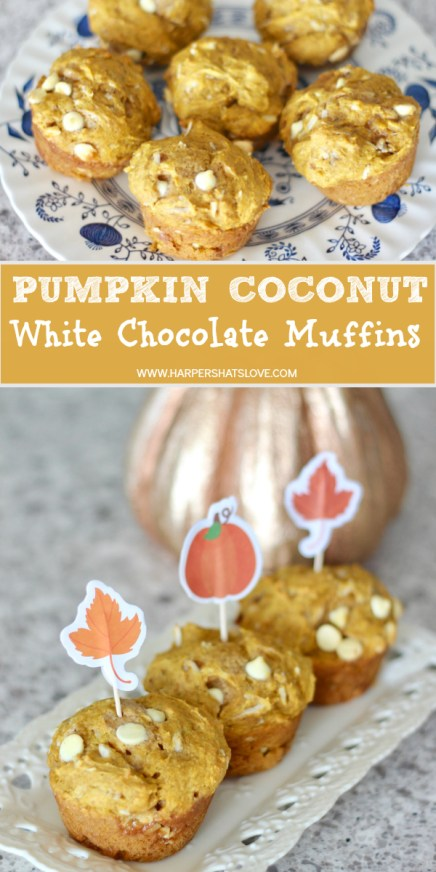 Pumpkin coconut white chocolate muffins recipe