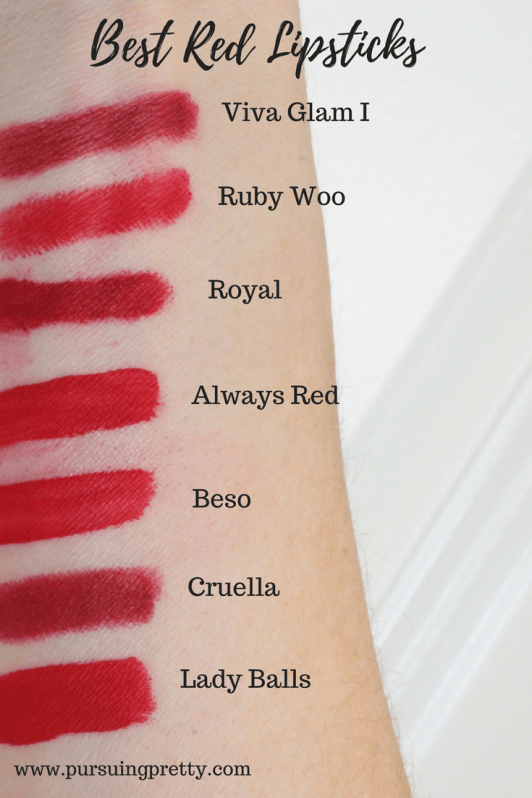 The Best Red Lipsticks arm swatch