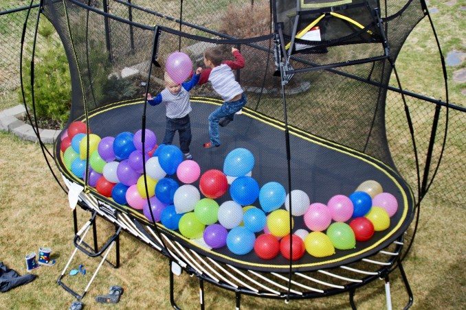 How to plan a trampoline surprise