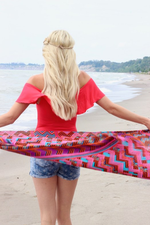 Beach vibes - mermaid hair - Headbands of Hope - hair extensions - Summer Outfit idea