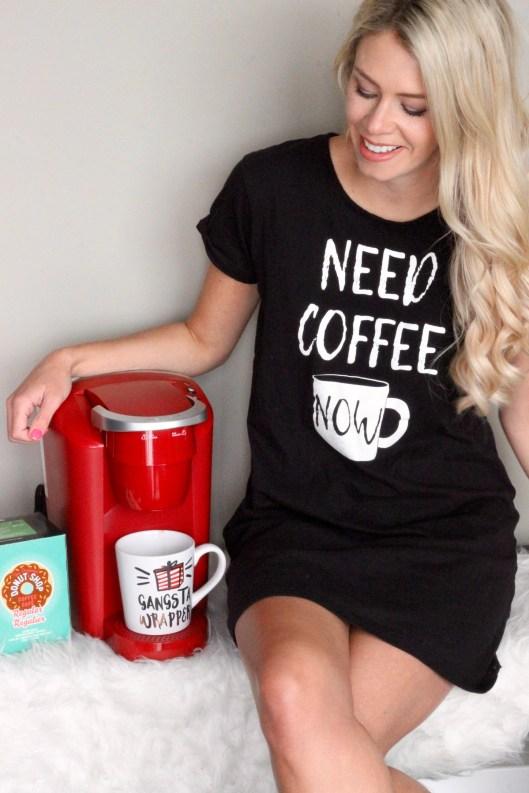 Walmart Mom Gift Guide for Christmas - coffee please! Keurig, mug, pjs