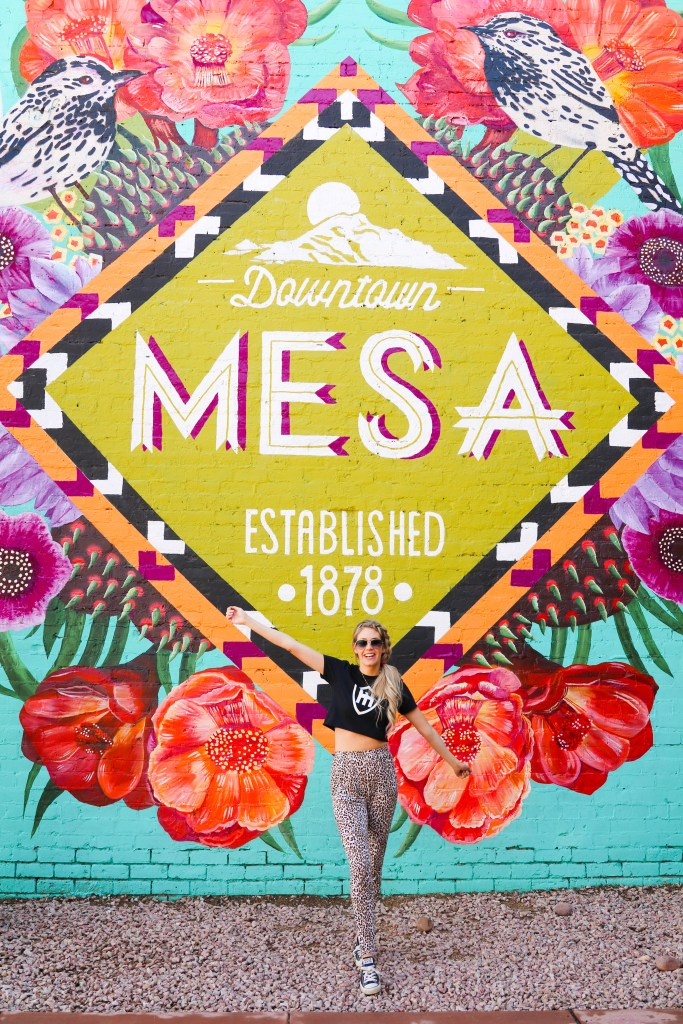 The best Instagrammable Walls in Mesa, Arizona. Instagram-worthy locations and outfits. Visit Mesa Mural.