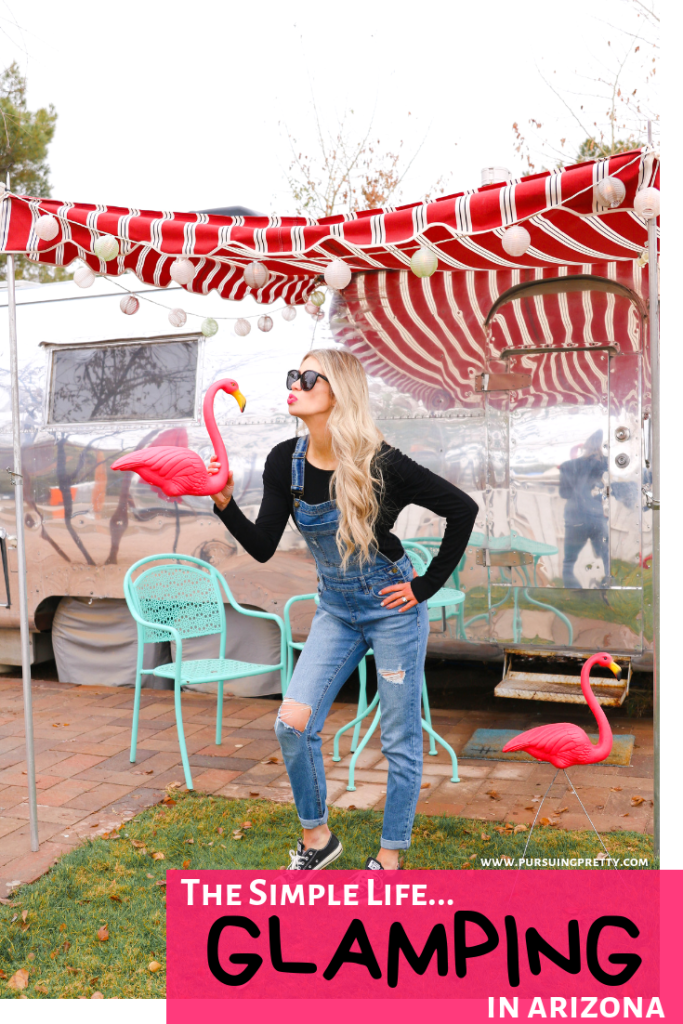 Glamping in Arizona on Schnepf Farms! The newest travel rage, AirStream trailer camping on a peach orchard! The coolest and trendiest new travel trend.