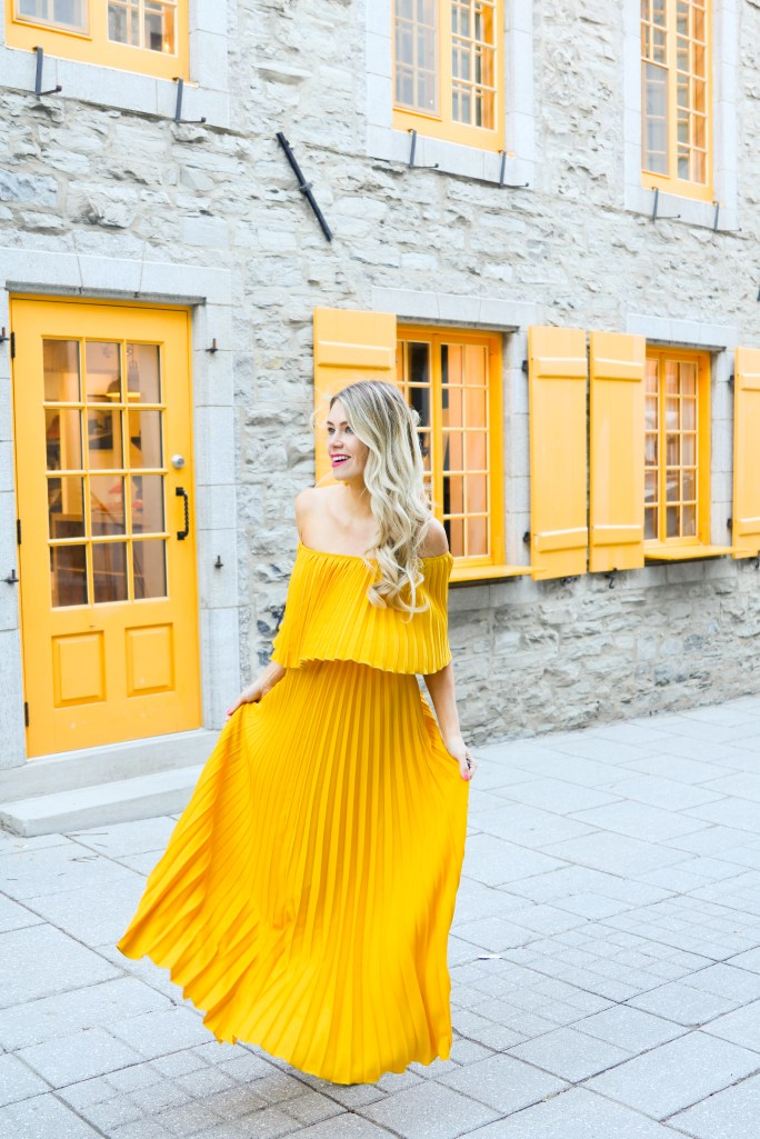 Pleated Yellow Dress from ChicWish - fashion and travel blogger