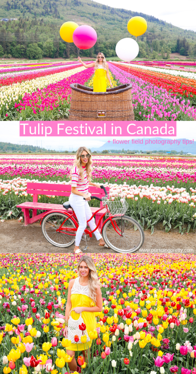 Everything to know about THE BEST Tulip Festival in Canada! Plus flower field photography tips! #travel #tulips #fashion #summer #spring