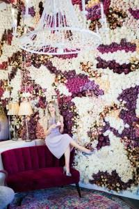 Instagram Walls Calgary - flower wall - bakery - Finesse Desserts