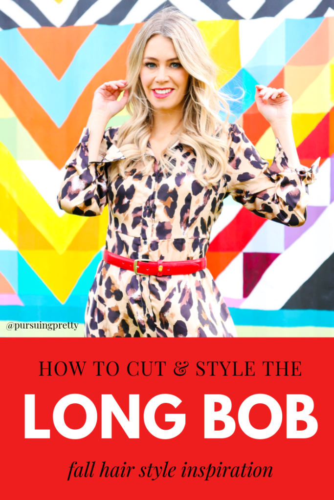 Fall Hair Trends 2019 - hair tutorials- how to cut and style a long bob - leopard dress - #fashion #style #hairstyles #hairtutorial
