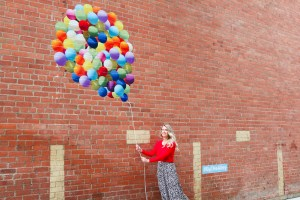Instagram Walls in Calgary East Village - Balloon Wall - Mural Walking Tour Map of Calgary, Alberta - Instagrammable Walls - Tourism Photography - where to get the best photographs in Calgary - local blogger Pursuing Pretty