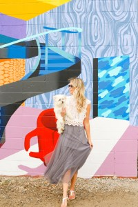 Fall Outfit Ideas from Chicwish - white last tank, grey tulle skirt