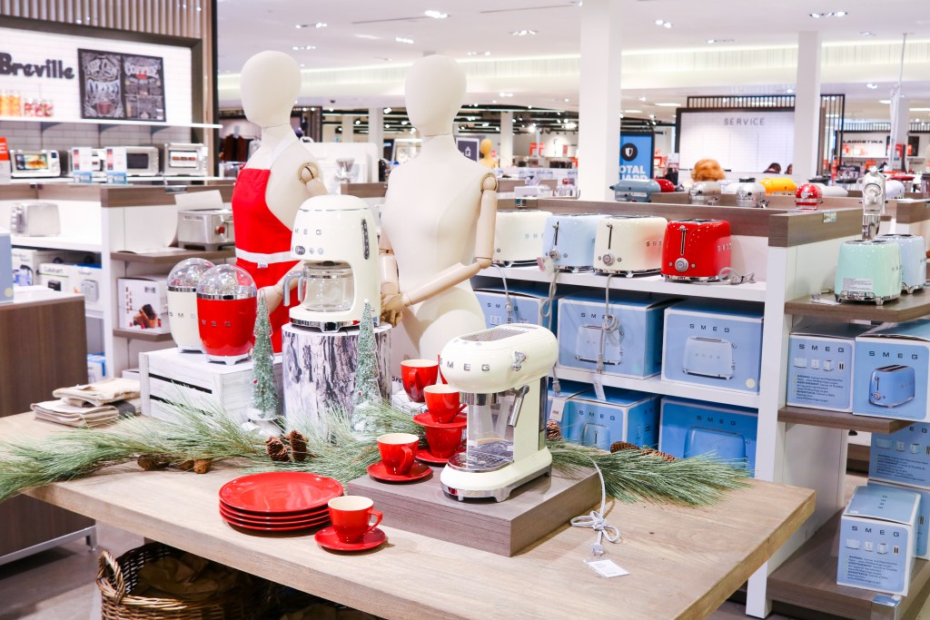 Southcentre Mall gift ideas - home applicances at Hudson Bay - Smeg