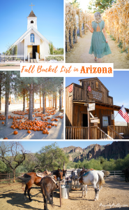 Fall Bucket List in Arizona - 7 must-do experiences off-the-beaten path - pumpkin patches, Ghost town, Elvis Chapel, goat yoga - travel in Arizona - #travel #bucketlisttravel #bucketlist #arizona #fall #autumn
