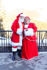 Mr & Mrs Claus at the Fairmont Banff Springs