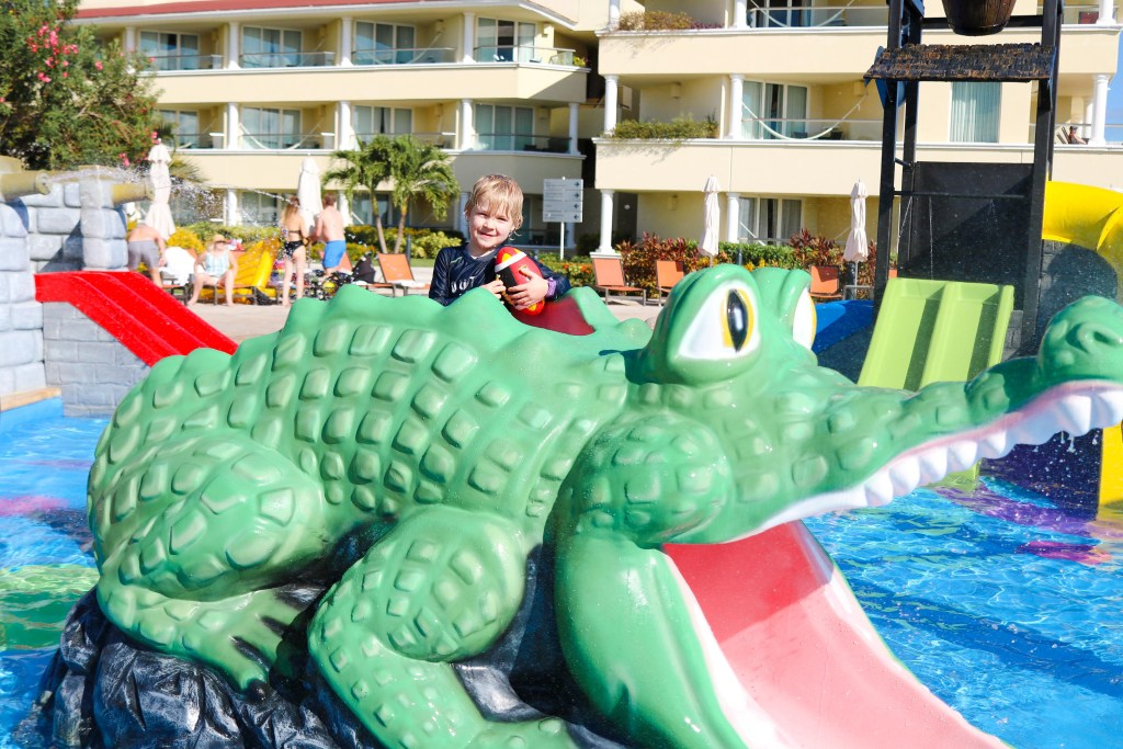 Moon Palace Resort Cancun water slide and splash park for kids