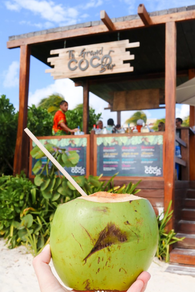 Coconut beach bar at the Grand Moon Palace - all-inclusive coconut drinks