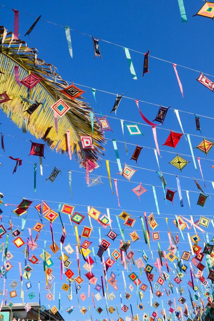 Sayulita Kites and Flag Garland called papel picado