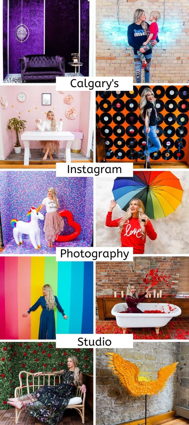 Instagram Photography Studio - Snap Foto Club - how to gain access to this cool Instagrammable wall studio! Located in Calgary, Alberta, Canada