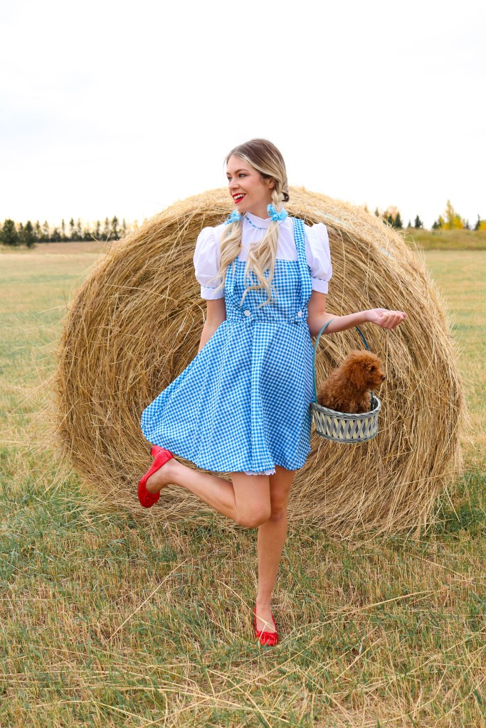 "'There's no place like home."" -Dorothy costume and ruby slippers"