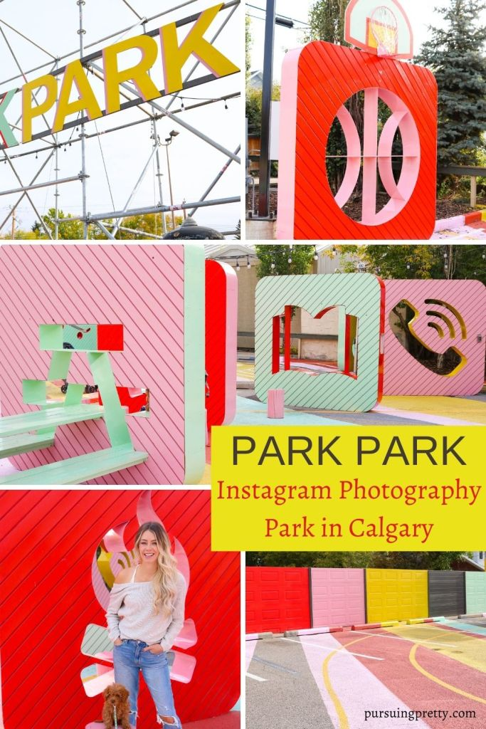 PARK PARK - outdoor photography space in Inglewood, Calgary, Alberta. Colourful Instagram walls in Calgary! #tourism #instagram #photgraphy