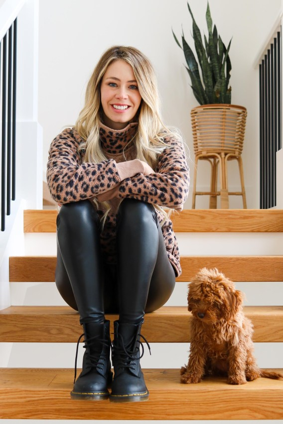 What to Wear this Winter: Leopard flece, faux-leather leggings, Combat Boots from Doc Marten