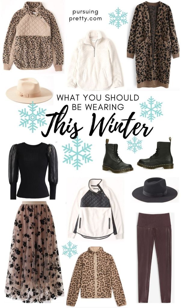 WHAT YOU SHOULD BE WEARING THIS WINTER! Faux-leather legging, fleece and sherpa pullovers, felt fedoras, combat boots! Wardrobe capsule! #style #fashion