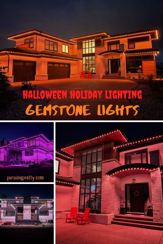 Discover the magic of Gemstone Lights Calgary and all of the amazing holiday lighting theme options including Halloween and Christmas! Farmhouse Halloween Decorations. Outdoor decor Halloween.
