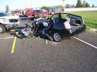 Toyota Prius crash