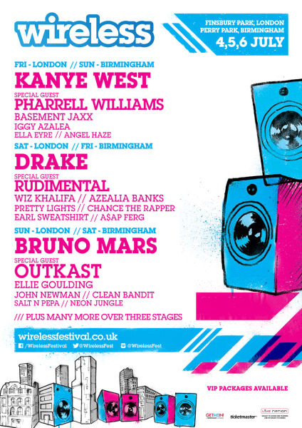 Wireless Festival 2014 Lineup