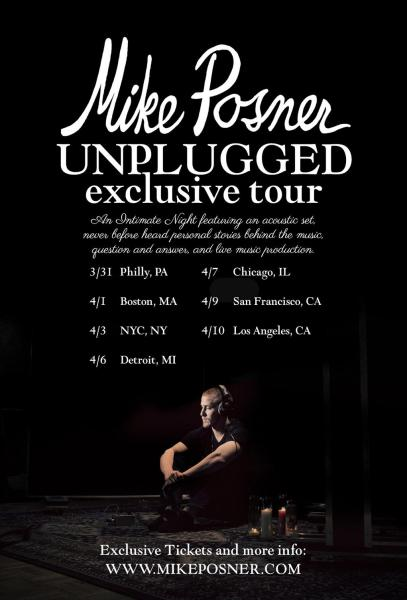Mike Posner Unplugged tour