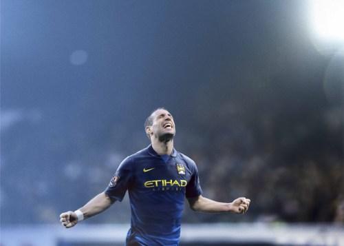 Manchester City 2014-15 Away Kit Pablo Zabaleta
