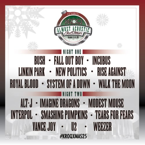 KROQ - Almost Acoustic Christmas 2014