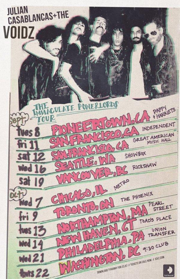 Julian Casablancas + The Voidz 2015 Tour Dates