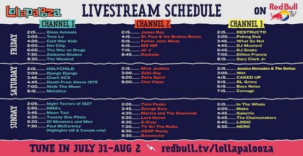 Lollapalooza 2015 Live Stream