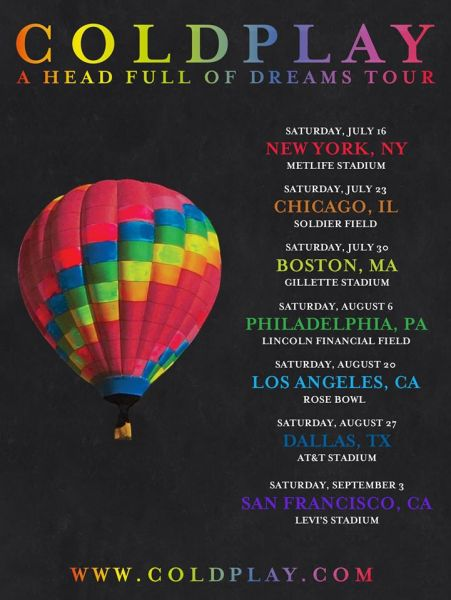 Coldplay 2016 Tour