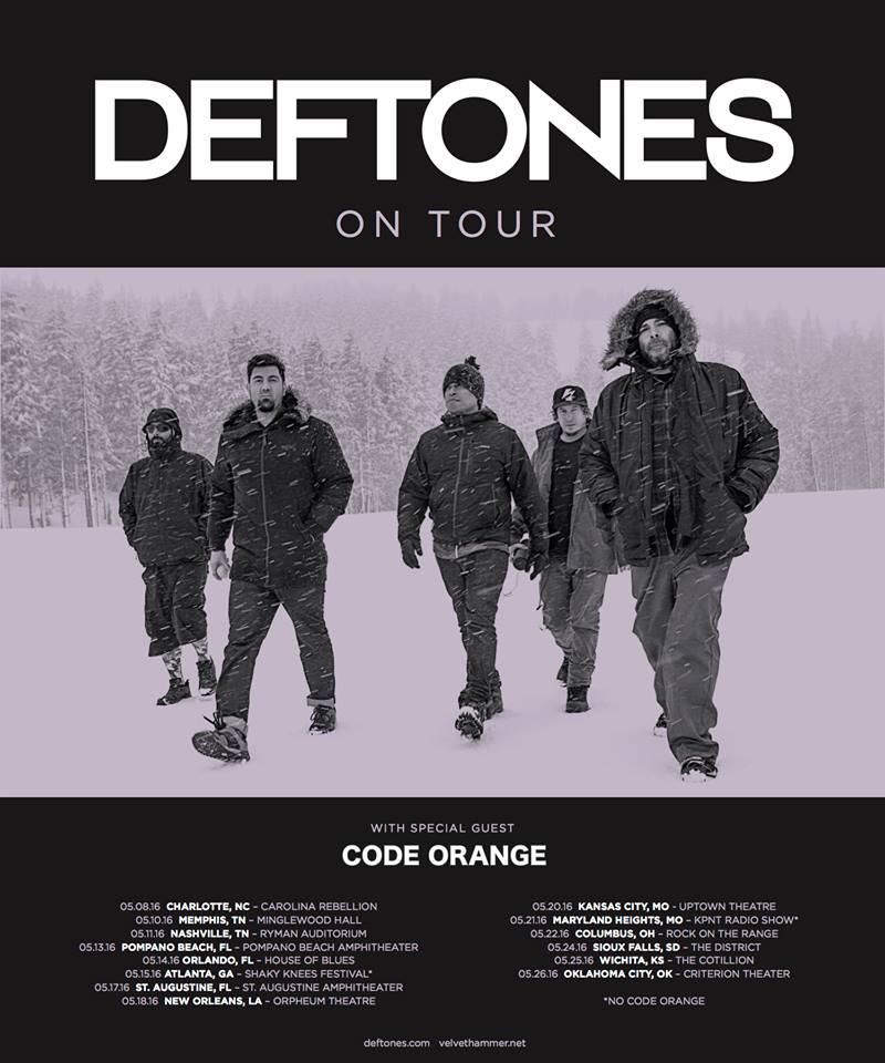 Deftones 2016 Tour