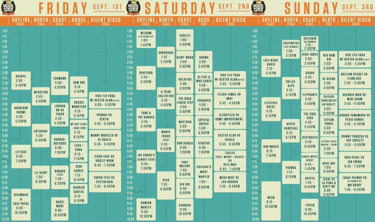 NCMF Announces 2017 Schedule + After Parties