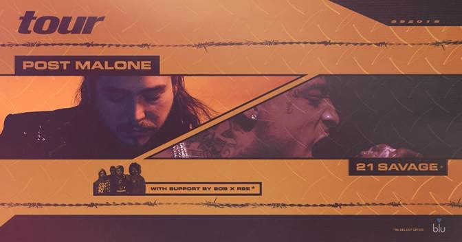 Post Malone Announces Tour w/ 21 Savage & SOB x RBE