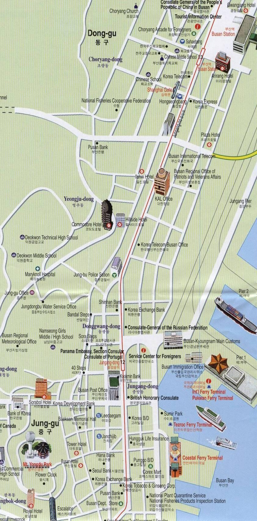 Pusanweb Maps Busan Korea