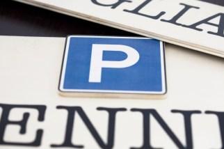 P di Parcheggio in rilievo