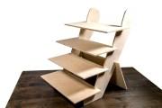 Espositore da tavolo in legno fatto a mano ad incastri