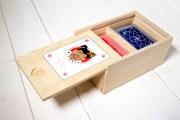 Cofanetto per carte da gioco in legno Biscazziere