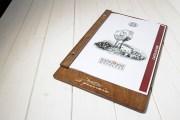 Portamenu di legno per fogli A4 Borgo Nuovo