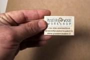 Biglietti da visita di legno artigianali