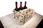 Cassetta porta bottiglie per vini e porta menu Tarello