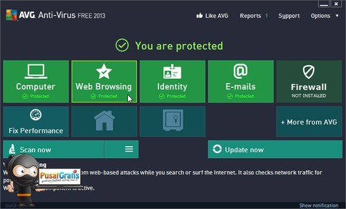 Download Antivirus AVG Free 2013 Versi Terbaru