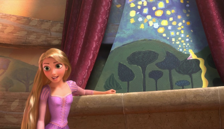 Image result for rapunzel painting in her tower